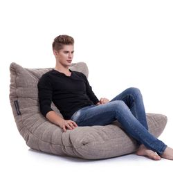 Beige Acoustic Bean Bags - Ambient Lounge