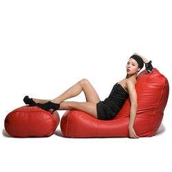 red leather bean bags - Ambient Lounge