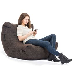 Brown Acoustic Bean Bags - Ambient Lounge