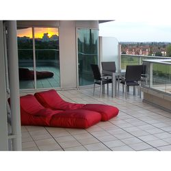 red conversion lounger bean bag