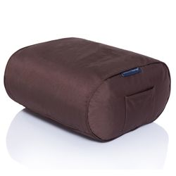 brown ottoman bean bag