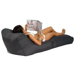 black conversion lounger bean bag