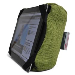 Lime Green iPad Pro protective cushion or travel rest pillow by Ambient Lounge