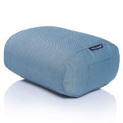 blue ottoman bean bag