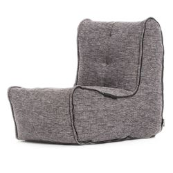 Link middle bean bag in grey interior fabric