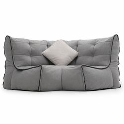 Modular bean bag corner in Keystone Grey