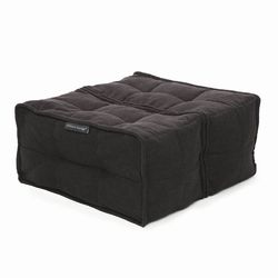 Black Ottoman Modular Beanbag in Interior Fabric