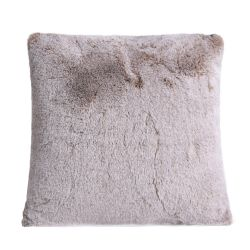 1150gm cappuccino deluxe faux fur cushion by ambient lounge