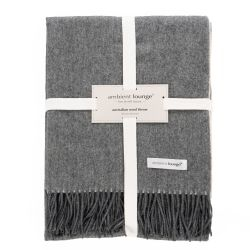 ambient lounge merino wool luxury throw