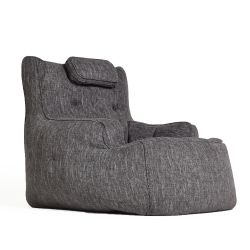 tranquility armchair by ambient lounge in dark grey fabric