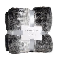850gm deluxe animal print faux fur throw by ambient lounge