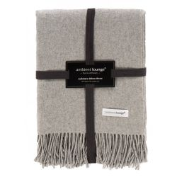 ambient lounge light grey merino wool luxury throw