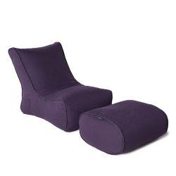 aubergine designer sofa set in Sunbrella fabric bean bag by Ambient Lounge