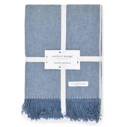 Blue Mist Luxury Australian Wool Throw by ambient lounge