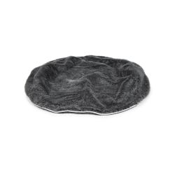 small dark grey faux fur cover fits small dog beds by Ambient Lounge Australia